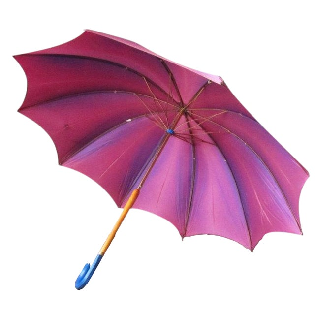 Vintage Purple Touch N Go Umbrella - Image 1 of 5