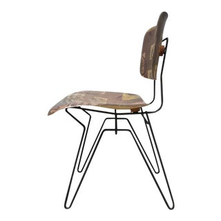 Hobart Wells Iron Hairpin and Formed Fiberglass Lounge Chair For Sale
