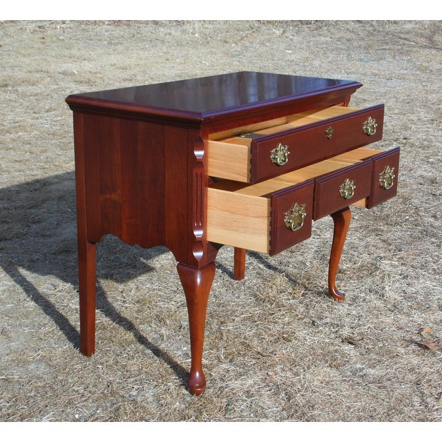 Pennsylvania House Vintage Pennsylvania House Solid Cherry Traditional Queen Anne Style Lowboy Chest For Sale - Image 4 of 13