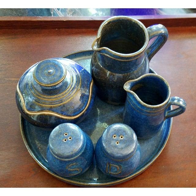 Saint Amand en Puisaye Les Bleus Condiment Set - Image 2 of 11