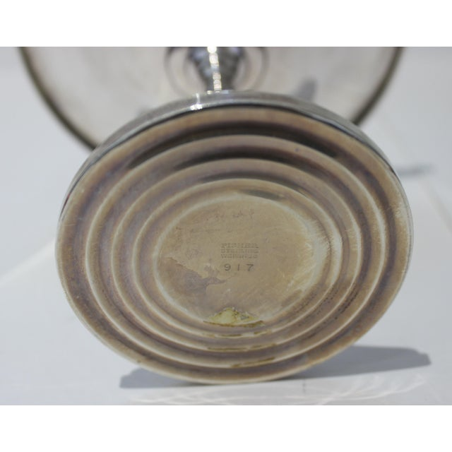 Silver Vintage Fisher Sterling Compote For Sale - Image 8 of 11