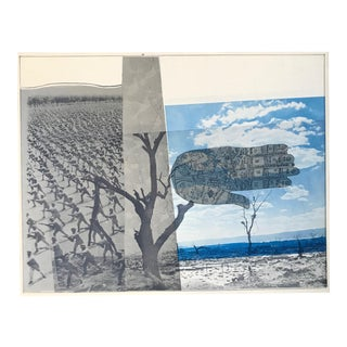"1970s ""Wort"" Composite Photo Collage by the Triton Press Robert Rauschenberg For Sale"