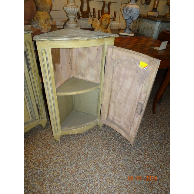 Pair of French Corner Cabinets For Sale - Image 9 of 11