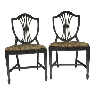 Biedermeier Lacquered Dining Chairs - a Pair