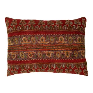 Vintage Hand Embroidery Persian Suzani Pillow For Sale