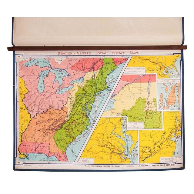Vintage American Revolutionary War Map For Sale