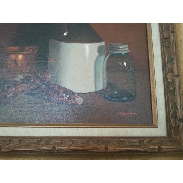 Original Vintage Still Life Painting - Image 4 of 8