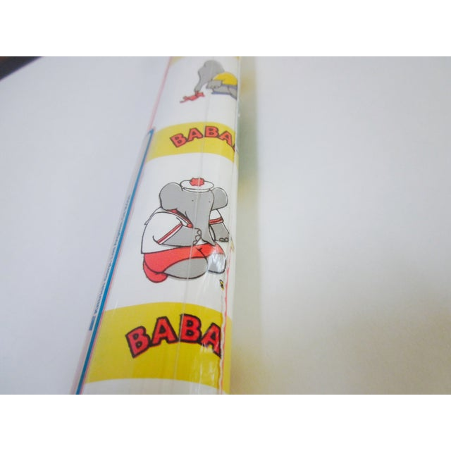 French Babar Wallpaper or Adhesive Paper - 1.5 Yrd For Sale - Image 5 of 8