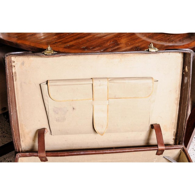 Leather trunk on stand For Sale - Image 9 of 11