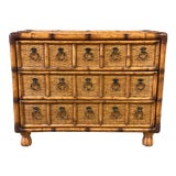 Image of Vintage British Colonial Style 3 Drawers Chest For Sale
