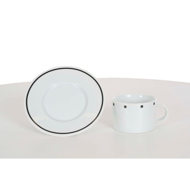 Postmodern David Ehrenreich Coffee Cups and Saucers for Sasaki - Set of 9 For Sale - Image 3 of 6