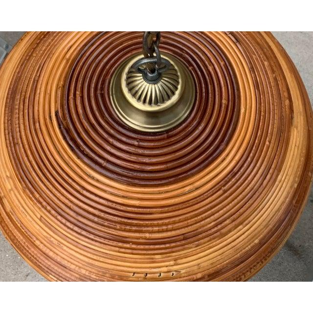 Vintage Bamboo Indoor/Outdoor Ceiling Light For Sale In Phoenix - Image 6 of 12