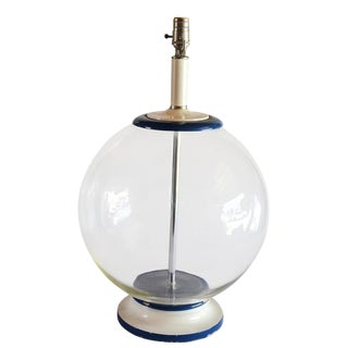 Vintage Clear Glass Fish Bowl Style Table Lamp