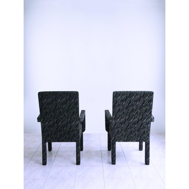 1980s Vintage Parsons Armchairs- A Pair For Sale - Image 4 of 7
