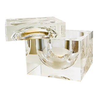 Swivel-Top Lucite Ice Bucket by Alessandro Albrizzi For Sale