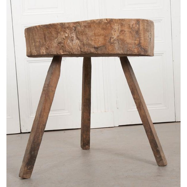 """Contemporary French 19th Century Provincial """"Tree-Trunk"""" Chopping Block Stool For Sale - Image 3 of 8"""