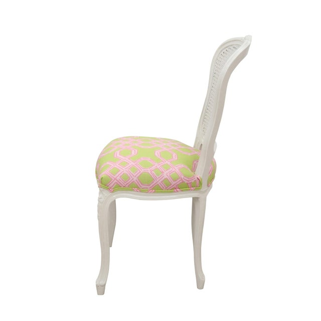 Louis XV Cane Back Accent Chair - Image 4 of 6