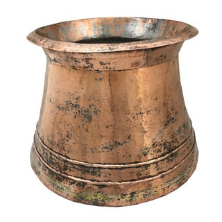 Vintage Hand-Hammered Copper Boiler For Sale