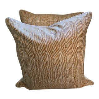 Quadrille China Seas Zig Zag Pillows - a Pair For Sale
