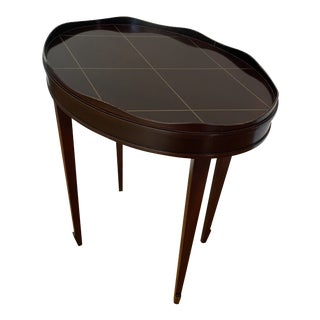 Barbara Barry Oval Gallery Edge Side Table For Sale