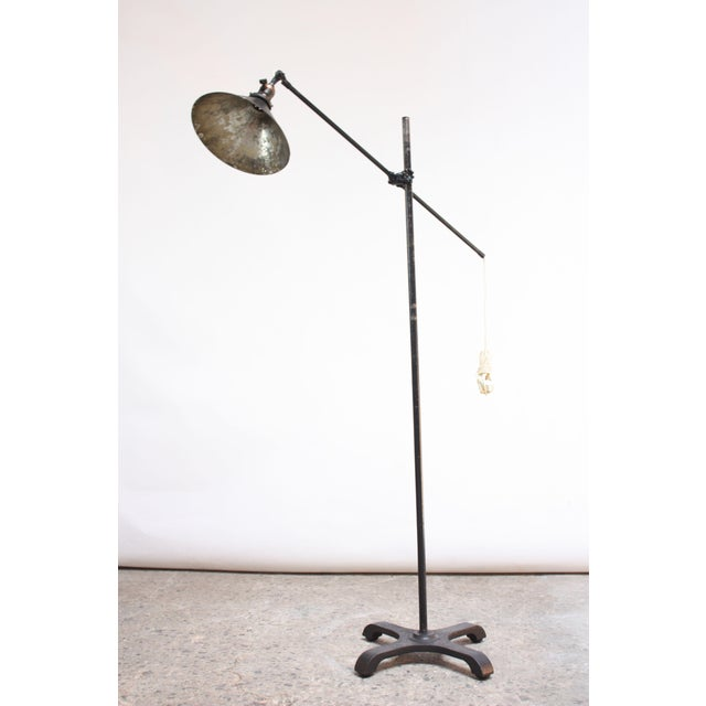 Vintage Industrial Articulating Floor Lamp by o.c. White For Sale - Image 13 of 13