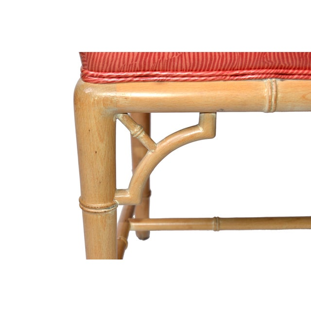 Faux Bamboo Chinese Chippendale Vinyl Chairs - Set of 8 - Image 9 of 10