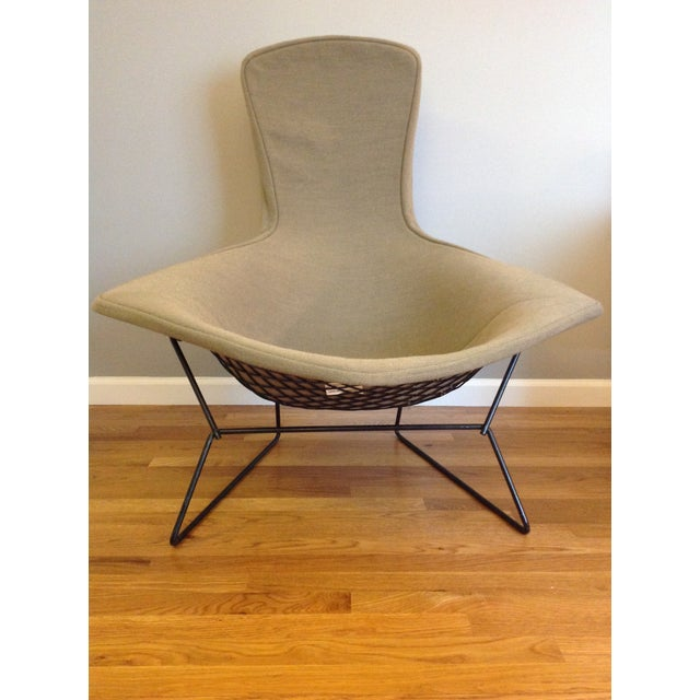 Mid-Century Modern Harry Bertoia for Knoll Bird Chair & Ottoman For Sale - Image 3 of 10