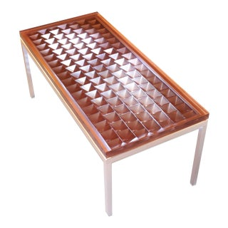 Modern Geometric Cocktail Table For Sale