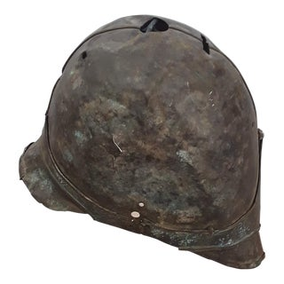 Antique French Metal Helmet For Sale