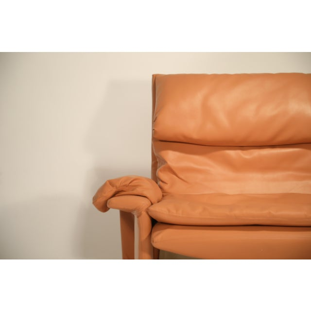 Metal 1970s Vintage Giovanni Offredi for Saporiti Lounge Chair and Ottoman For Sale - Image 7 of 13