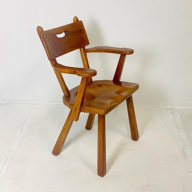 Wood Set of 6 Cushman Vermont Rock Maple Dining Chairs Designed by Herman DeVries For Sale - Image 7 of 13