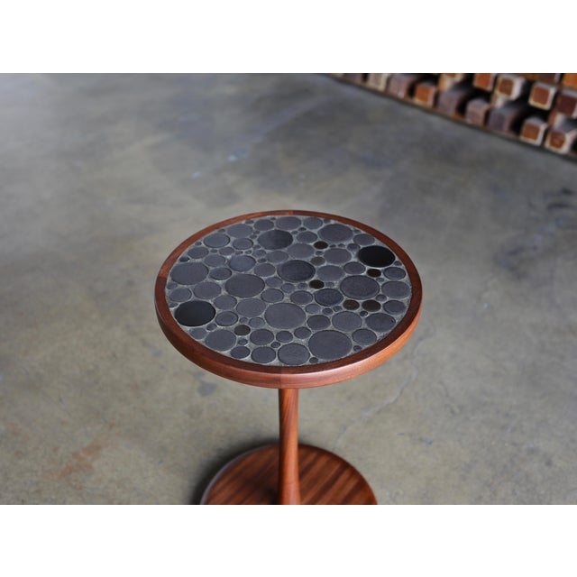 Marshall Studios Ceramic Tile Top Occasional Table by Gordon Martz For Sale - Image 4 of 6