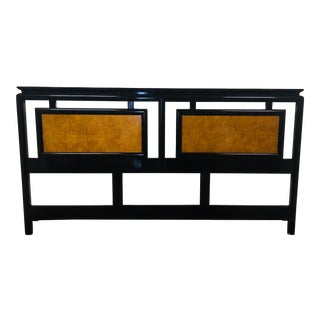 1950 Vintage Chinoiserie King Headboard by Century Furniture For Sale