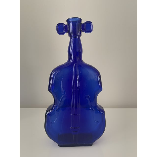 Blue Vintage Blue and Green Cello & Violin Colored Glass Vases - Set of 3 For Sale - Image 8 of 9