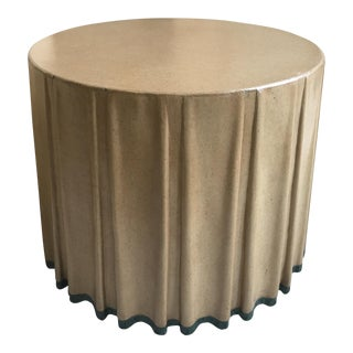 Marge Carson Leather Draped Center Table