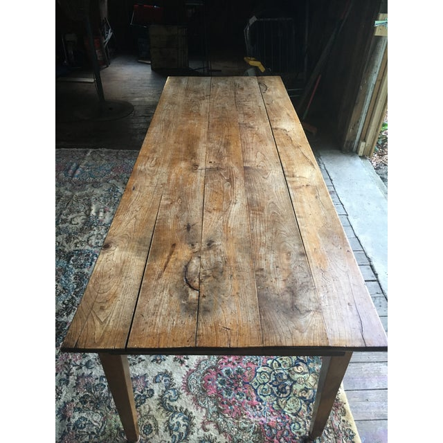 Country Antique Pine Farm Table For Sale - Image 3 of 10
