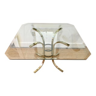 Vintage Glass Dining Table