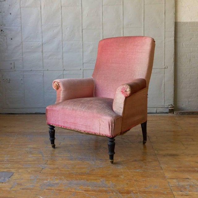 French 19th Century French Armchair and Ottoman For Sale - Image 3 of 11