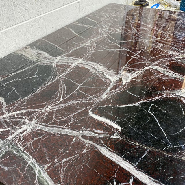 Art Nouveau Monumental Marble Dining or Desk Table For Sale - Image 3 of 13
