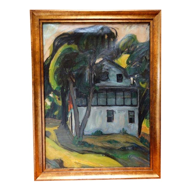 """Santa Barbara Adobe"" Painting by Ejnar Hansen For Sale"
