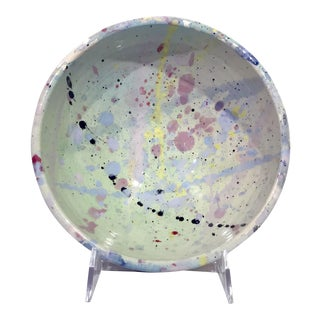 Peter Shire Lacma 1984 Splatter Memphis Milano Era Bowl For Sale