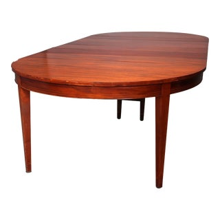 1930s Hepplewhite Satinwood Banded Mahogany Banquet Table For Sale