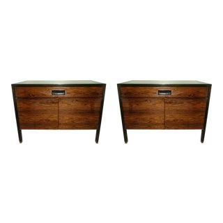 1960s Mid-Century Modern Harvey Probber Rosewood Nightstands - a Pair For Sale