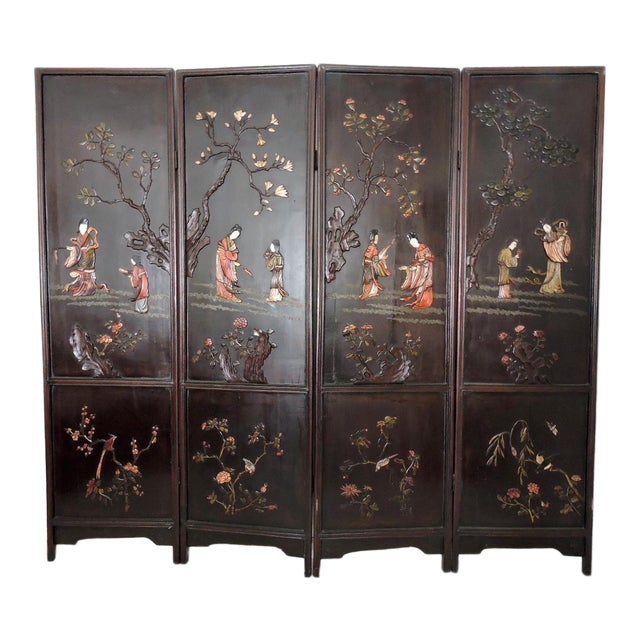 Antique Chinese Screen of the Four Seasons - Image 1 of 10
