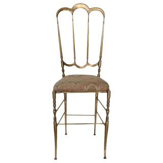 Chiavari Italian Brass Chair For Sale