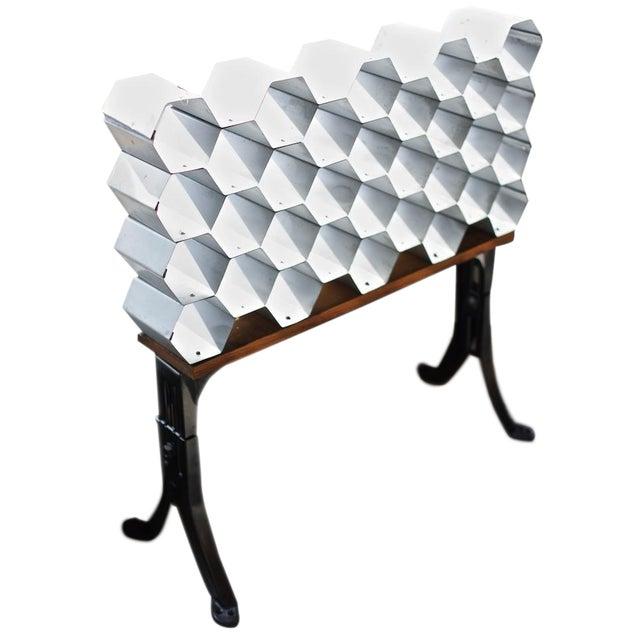 Galvanized Honeycomb Wine Rack - Image 1 of 4