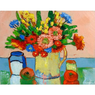 Modernist Floral Still Life Painting