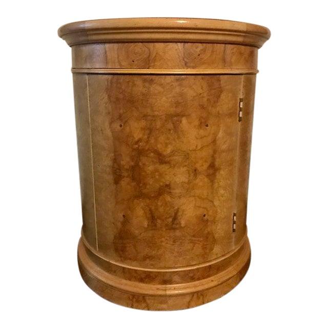 Vintage Milo Baughman Style Burl Drum Table - Image 1 of 5