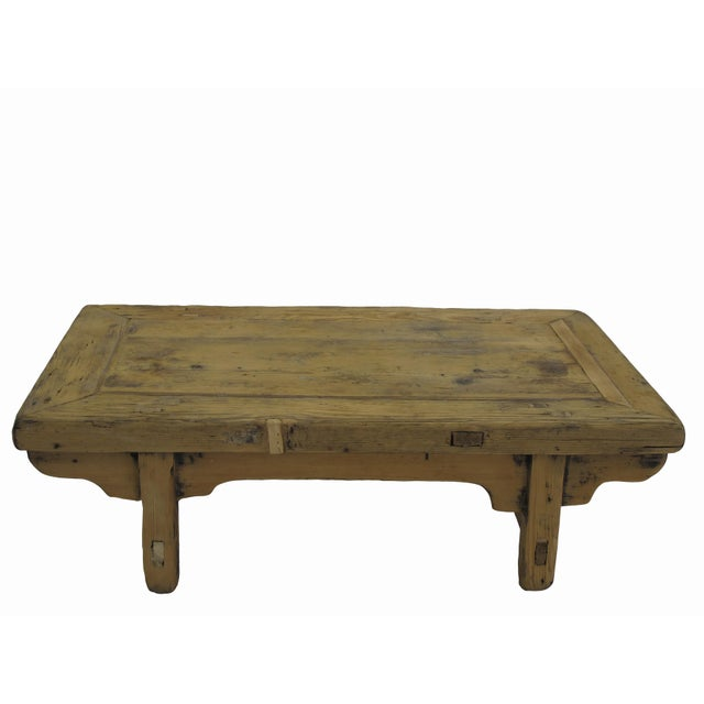 The color and wood of this rustic vintage small table is exact the same as it was found in Dongbei province in Northern...