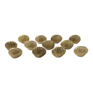 Brass Shell Place Card Holders - Set of 12